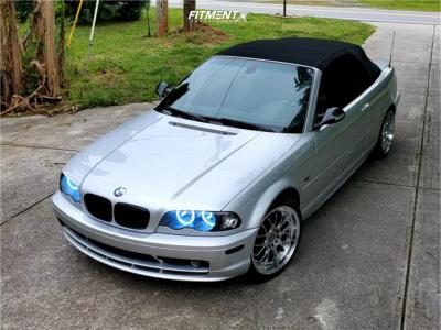 2003 BMW 325Ci - 18x8.5 35mm - F1R F21 - Stock Suspension - 225/40R18