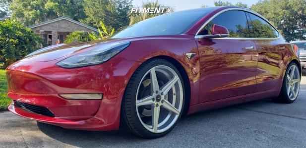 2018 Tesla 3 - 20x9 35mm - Advanti Racing Cammino - Lowering Springs - 255/30R20