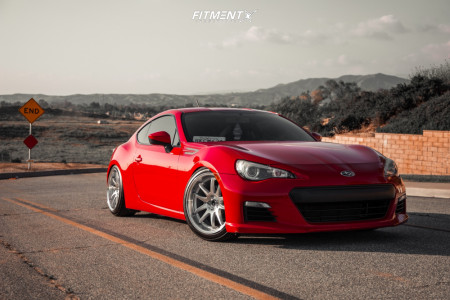 2014 Subaru BRZ - 18x9.5 35mm - Aodhan DS02 - Coilovers - 235/40R18