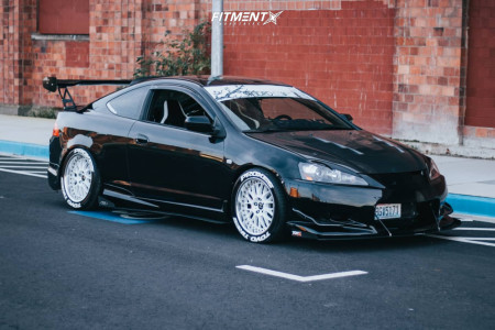 2006 Acura RSX - 17x9 22mm - Work VS XX - Coilovers - 255/45R17