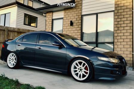 2007 Acura TSX - 18x8.5 30mm - ESR Sr08 - Lowering Springs - 225/40R18