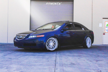 2004 Acura TL - 18x8.5 40mm - Versus Racing Vs24 - Coilovers - 245/40R18