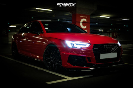 2016 Audi A4 - 20x9.5 38mm - Vossen Hf-2 - Coilovers - 245/30R20