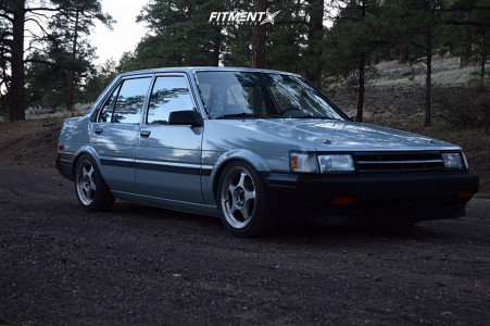 1986 Toyota Corolla - 15x6.5 40mm - Drag Dr23 - Coilovers - 195/45R15
