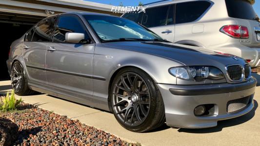 2004 BMW 330i - 18x9.5 40mm - ESR Sr12 - Lowering Springs - 255/35R18