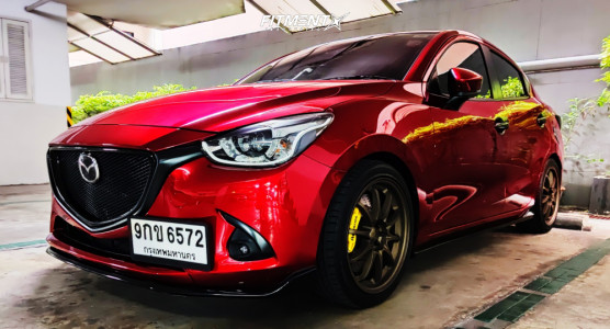 2014 Mazda 2 - 17x7.5 35mm - Rays Engineering Ce28n - Coilovers - 225/40R17