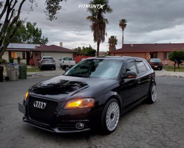 2010 Audi A3 - 18x8.5 35mm - Rotiform Las-r - Lowering Springs - 225/40R18