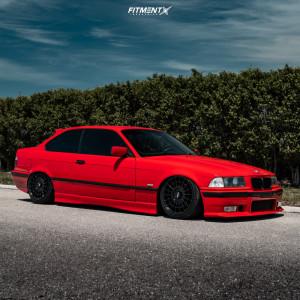 1997 BMW 328is - 17x8 35mm - Rotiform Las-r - Air Suspension - 205/40R17
