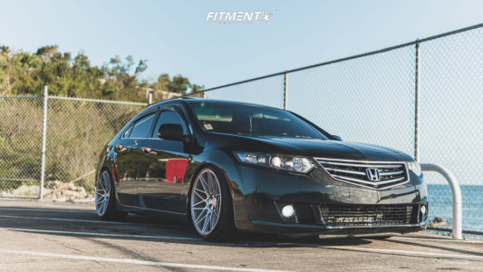 2009 Acura TSX - 19x9.5 22mm - Klutch Km20 - Coilovers - 225/35R19