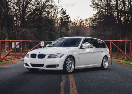 2009 BMW 328xi - 18x8.5 35mm - Alzor 881 - Lowering Springs - 225/45R18
