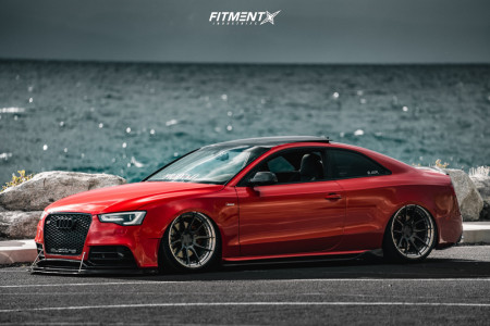 2013 Audi S5 - 20x10.5 25mm - BC FORGED Hca162s - Air Suspension - 275/30R20