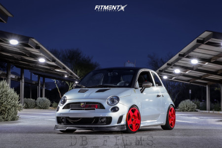 2017 Fiat 500 - 17x8 34mm - Fifteen52 Tarmac - Coilovers - 205/40R17