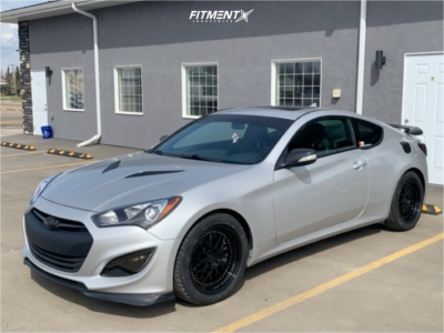 2014 Hyundai Genesis Coupe - 18x8.5 30mm - ESR Sr01 - Stock Suspension - 245/45R18