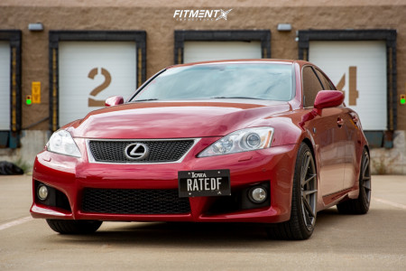 2008 Lexus IS F - 19x10 38mm - Ambit FC10 - Coilovers - 265/35R19