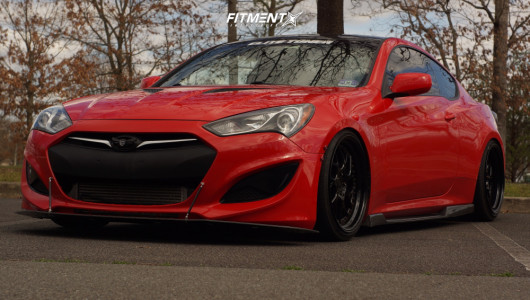2013 Hyundai Genesis Coupe - 19x9.5 20mm - Aodhan Ds01 - Coilovers - 225/35R19