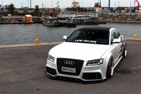2009 Audi S5 - 20x10.5 30mm - Bc Forged MLE210 - Air Suspension - 255/30R20