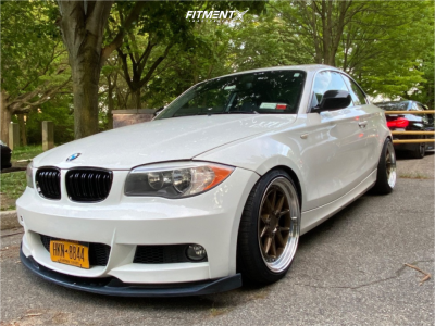 2012 BMW 128i - 18x8.5 35mm - Aodhan Ds08 - Coilovers - 215/40R18