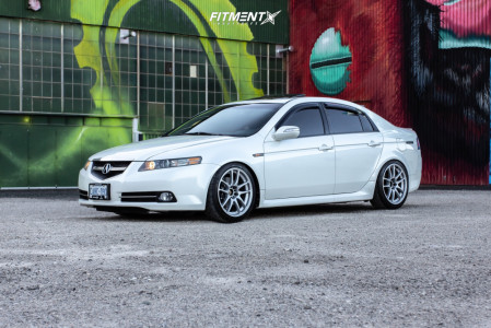 2007 Acura TL - 18x8.5 38mm - Work Emotion - Coilovers - 235/40R18