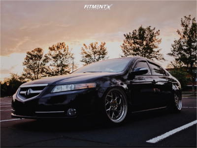 2008 Acura TL - 18x9.5 15mm - Aodhan Ds01 - Coilovers - 205/35R18