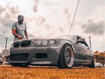 2004 BMW 325Ci - 17x8.5 30mm - Jnc JNC005 - Lowering Springs - 205/40R17