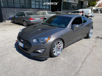 2013 Hyundai Genesis Coupe - 19x9.5 15mm - Aodhan DS02 - Lowering Springs - 245/35R19