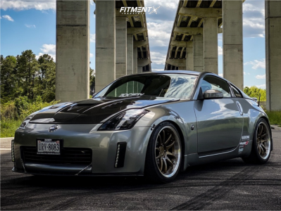 2004 Nissan 350Z - 19x9.5 22mm - Aodhan Ah02 - Coilovers - 275/35R19