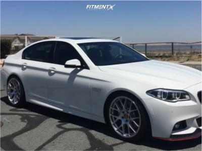 2014 BMW 550i - 20x9 29mm - BBS Ch-r - Lowering Springs - 245/35R20