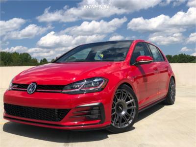 2019 Volkswagen GTI - 18x8.5 45mm - Rotiform Ozr - Lowering Springs - 235/40R18