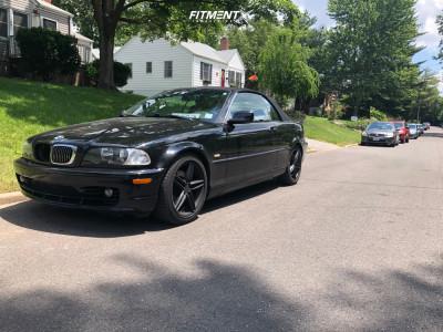 2002 BMW 325Ci - 17x7.5 40mm - Drag DR73 - Stock Suspension - 225/45R17