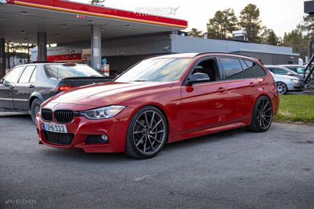 2014 BMW 320i - 20x9 35mm - Ferro FW5 - Lowering Springs - 245/35R20