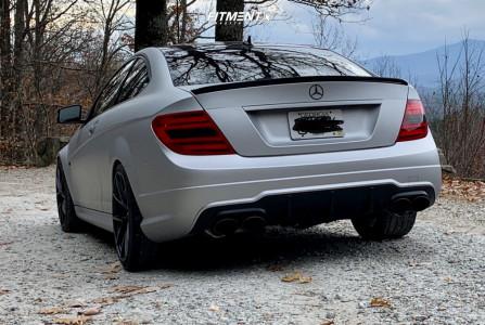 2013 Mercedes-Benz C63 AMG - 19x8.5 34mm - Niche Misano - Lowering Springs - 235/35R19
