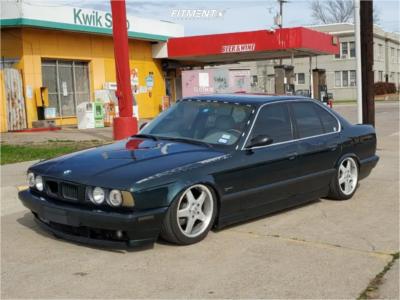 1995 BMW 540i - 17x8 13mm - Borbet Type A - Air Suspension - 225/45R17