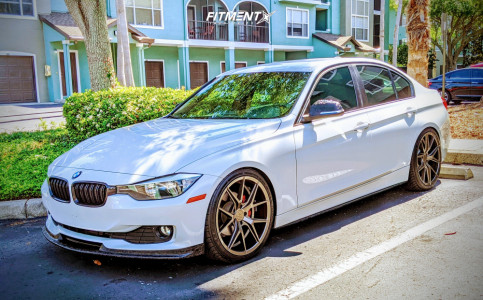 2014 BMW 320i xDrive - 20x8.5 35mm - Verde Axis - Coilovers - 245/35R20