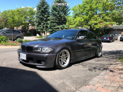 2005 BMW 330Ci - 18x8 13mm - BMW Style 37 - Coilovers - 205/40R18
