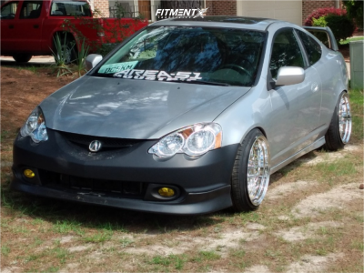 2002 Acura RSX - 18x10.5 15mm - Aodhan Ds03 - Coilovers - 215/40R18