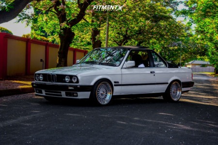 1992 BMW 325i - 17x9 0mm - Lenso Bsx - Lowering Springs - 255/70R17