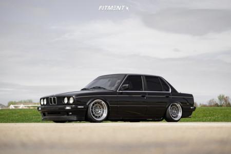 1991 BMW 318i - 17x8.5 10mm - Motegi Forged Mr409 - Air Suspension - 205/40R17