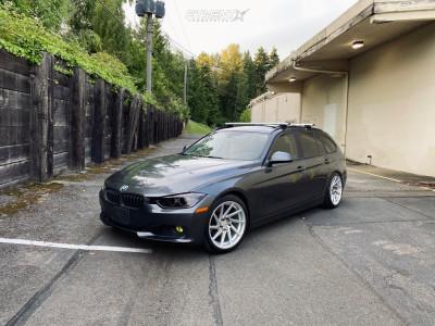 2014 BMW 328i xDrive - 18x9.5 38mm - F1R F29 - Lowering Springs - 245/40R18