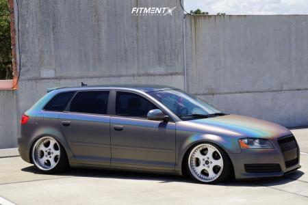2009 Audi A3 - 18x9.5 35mm - Work VS SD - Air Suspension - 235/35R18