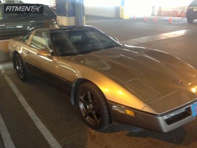 1984 Chevrolet Corvette - 17x9 50mm - TSW Paranormal - Stock Suspension - 275/40R17