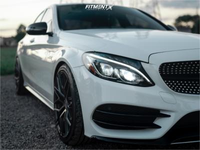 2016 Mercedes-Benz C450 AMG - 19x8.5 30mm - Avant Garde M520-r - Lowering Springs - 225/40R19