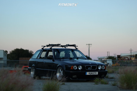 1994 BMW 540i - 17x9.5 10mm - Hartmann Turbo Twists - Coilovers - 225/40R17