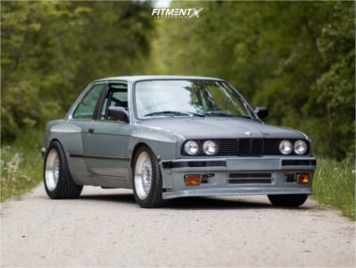 1987 BMW 325es - 17x8.5 15mm - Jnc Jnc004 - Coilovers - 255/45R17