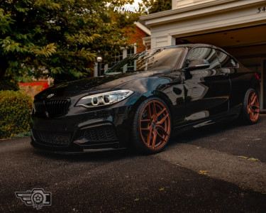 2015 BMW M235i xDrive - 19x8.5 35mm - Z Performance Flow Forged 2.1 - Coilovers - 235/25R19