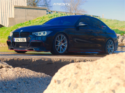 2013 BMW 335i xDrive - 19x8.5 32mm - Forgestar Cf5v - Coilovers - 235/40R19