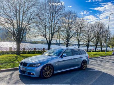 2010 BMW 325 - 18x8.5 30mm - Japan Racing Jr3 - Lowering Springs - 225/40R18