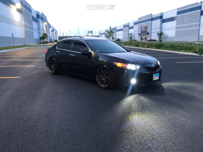 2009 Acura TSX - 20x9 32mm - Fitted F2 - Coilovers - 245/35R20
