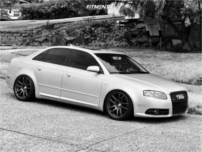 2008 Audi A4 Quattro - 18x9.5 35mm - ESR sr08 - Coilovers - 245/40R18