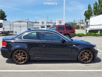 2009 BMW 128i - 19x8.5 45mm - Fast Wheels Fc04 - Coilovers - 225/35R19