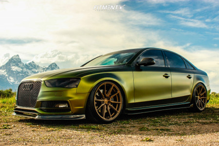 2014 Audi S4 - 20x9.5 40mm - Vossen Hf3 - Coilovers - 245/35R20